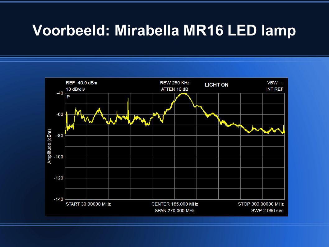 Voorbeeld: Mirabella MR16 LED lamp