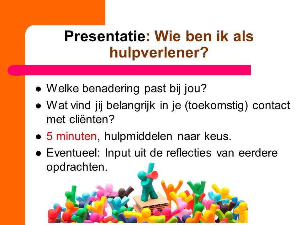 Presentatie: Wie ben ik als hulpverlener