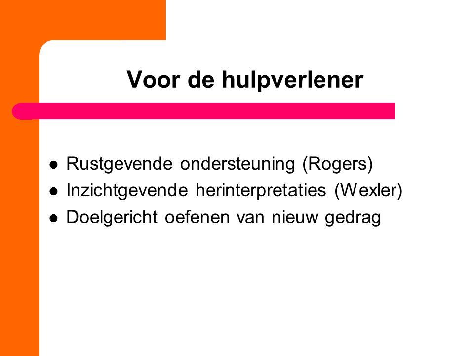 Voor de hulpverlener Rustgevende ondersteuning (Rogers)
