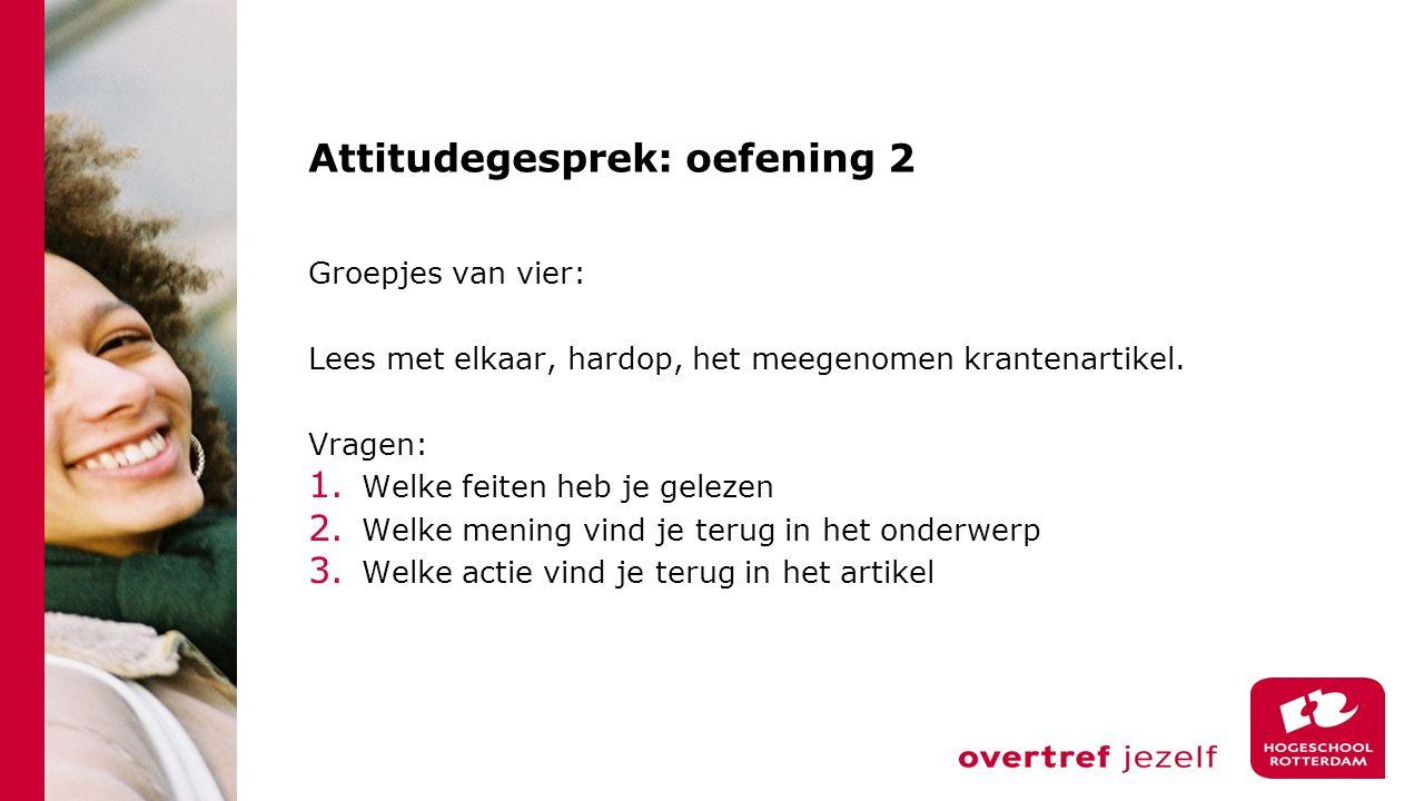 Attitudegesprek: oefening 2