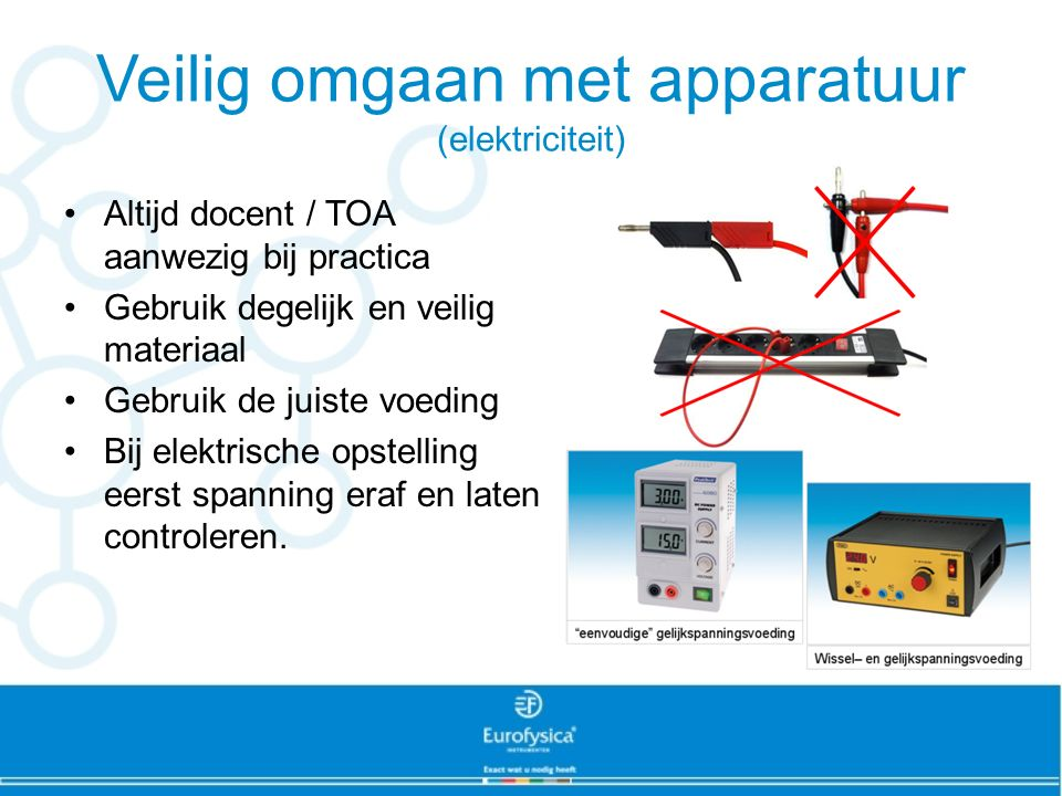 Veilig omgaan met apparatuur (elektriciteit)