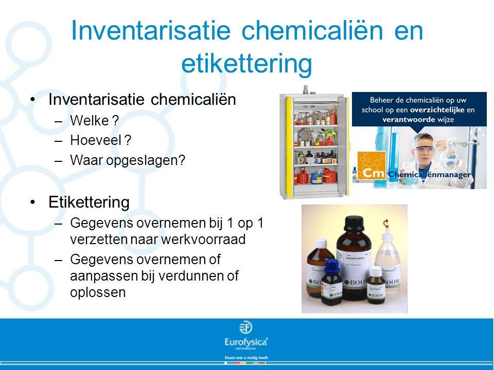 Inventarisatie chemicaliën en etikettering