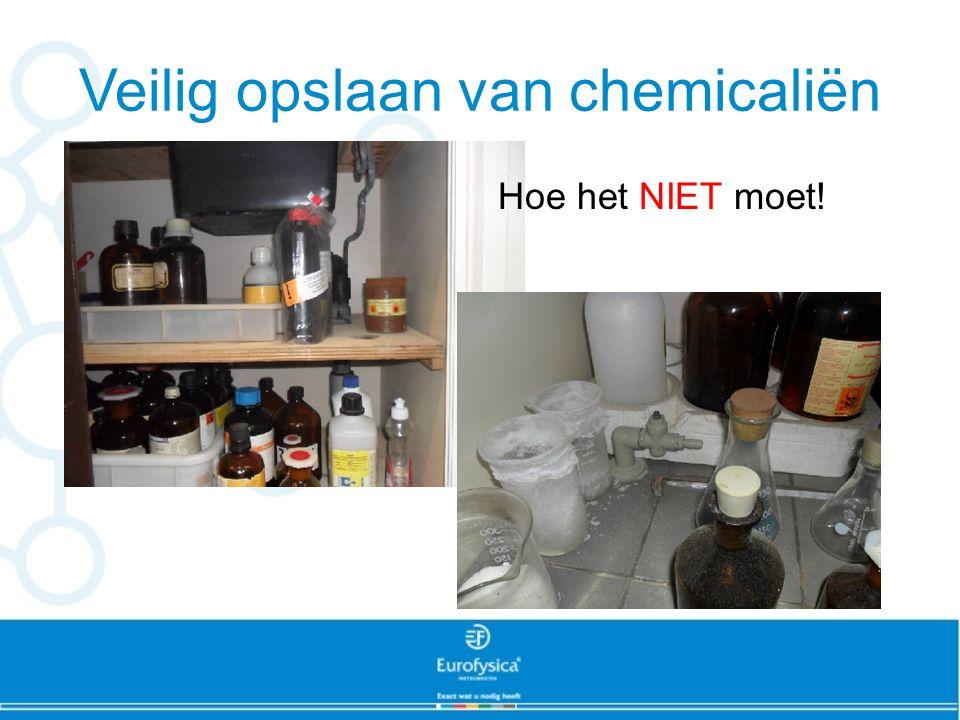 Veilig opslaan van chemicaliën
