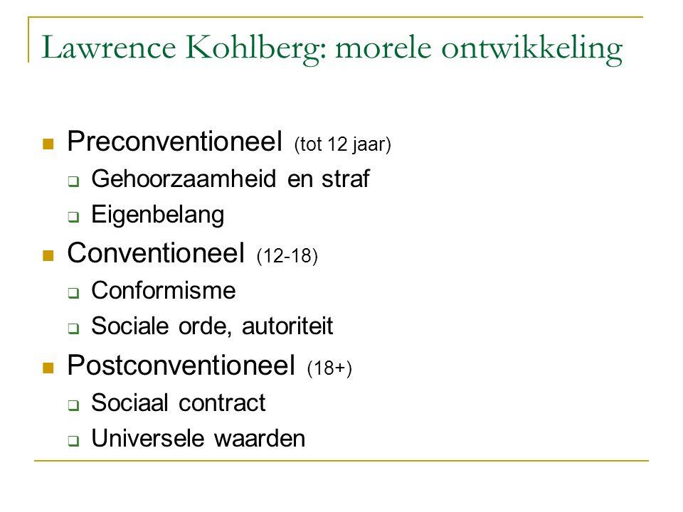 Lawrence Kohlberg: morele ontwikkeling