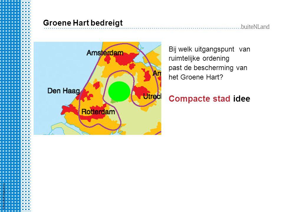 Compacte stad idee Groene Hart bedreigt