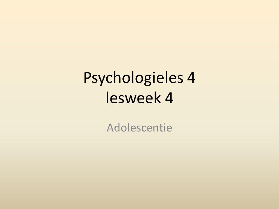 Psychologieles 4 lesweek 4