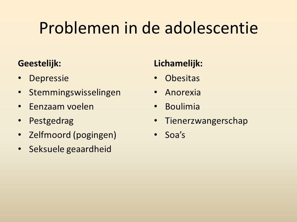 Problemen in de adolescentie