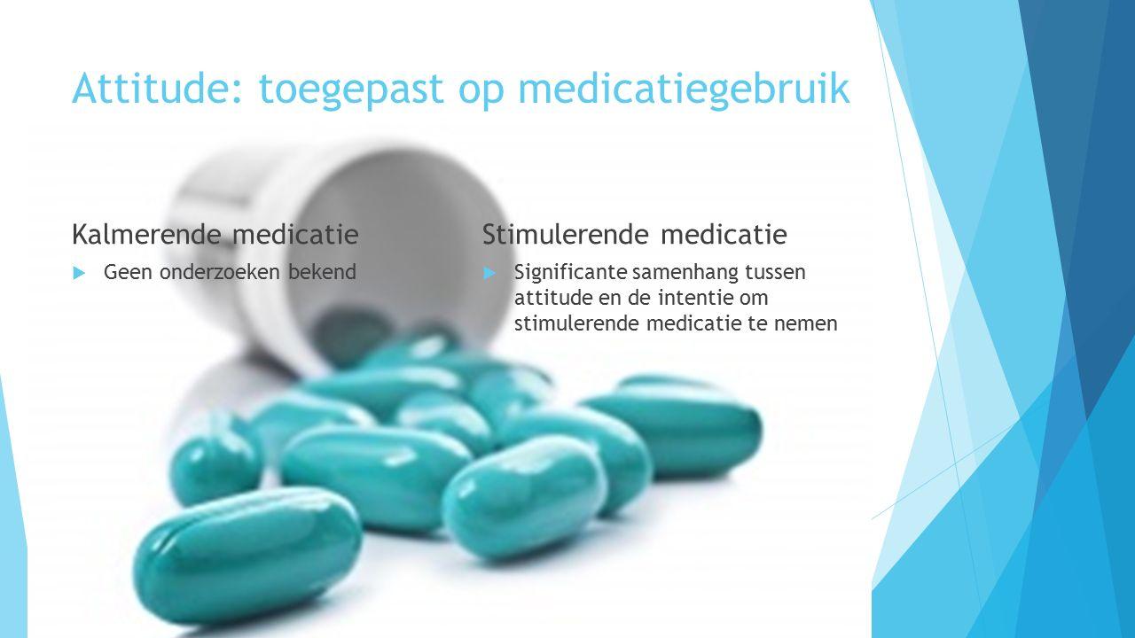 Attitude: toegepast op medicatiegebruik
