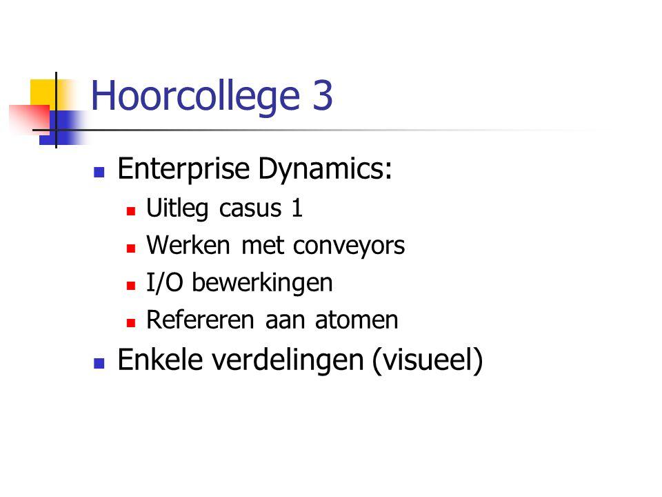 Hoorcollege 3 Enterprise Dynamics: Enkele verdelingen (visueel)