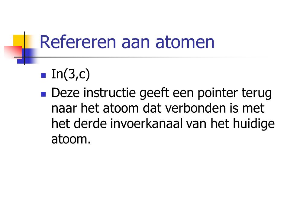 Refereren aan atomen In(3,c)
