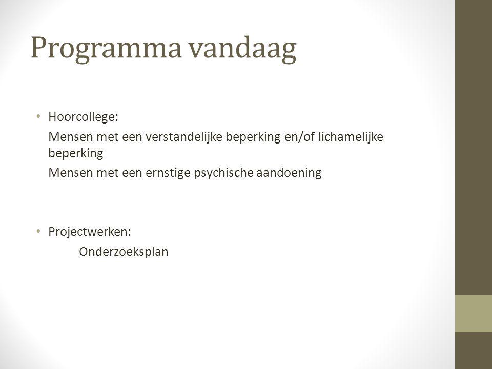 Programma vandaag Hoorcollege: