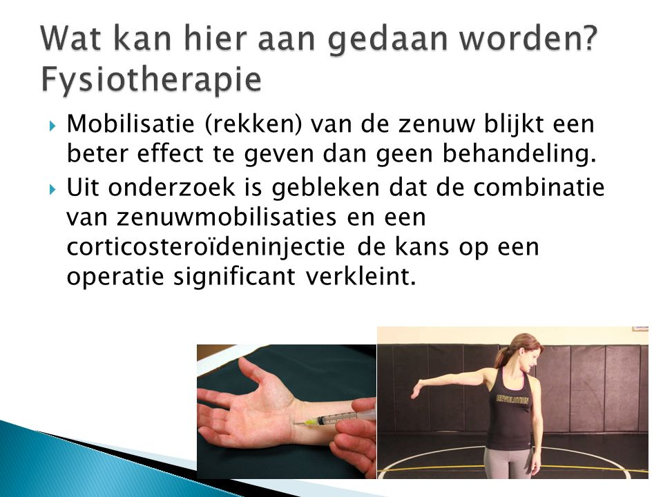 Wat kan hier aan gedaan worden Fysiotherapie