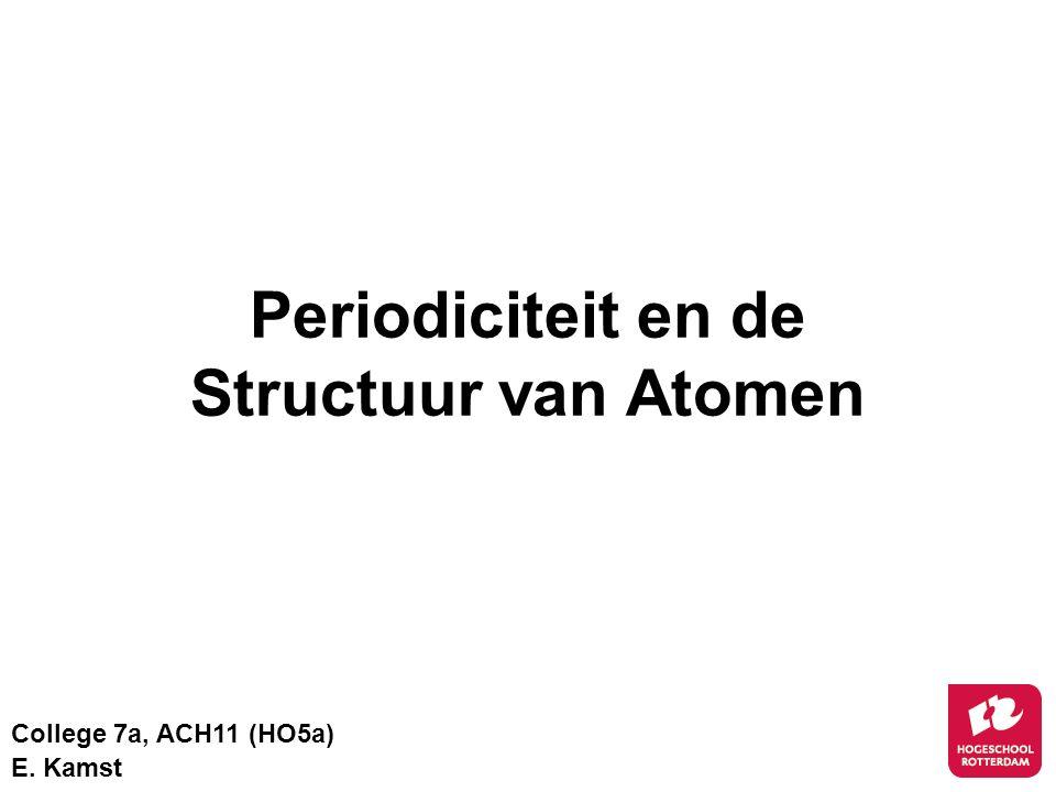 Periodiciteit en de Structuur van Atomen