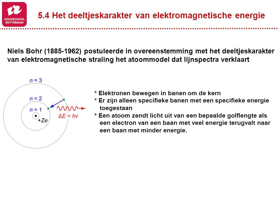 5.4 Het deeltjeskarakter van elektromagnetische energie