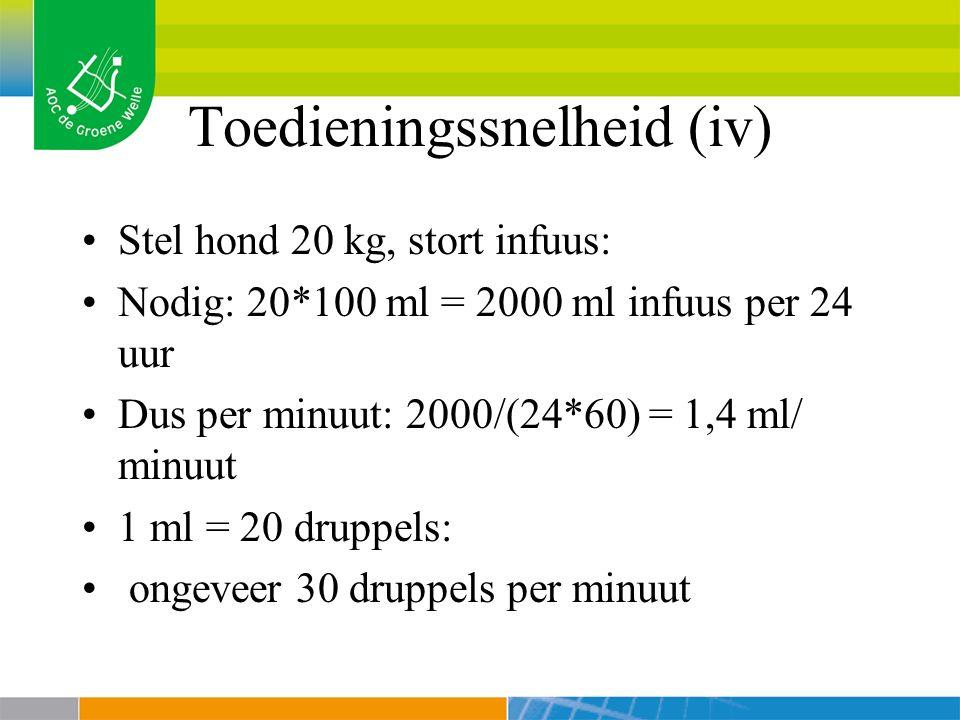 Toedieningssnelheid (iv)