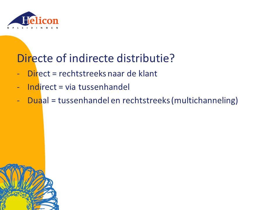 Directe of indirecte distributie