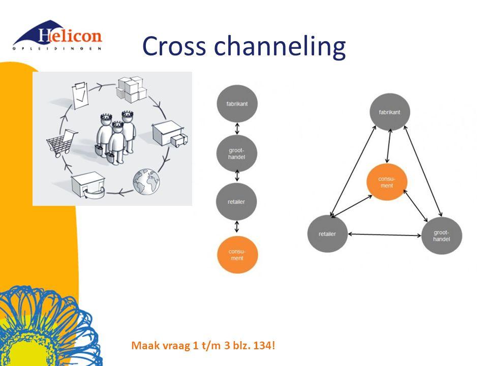 Cross channeling Maak vraag 1 t/m 3 blz. 134!