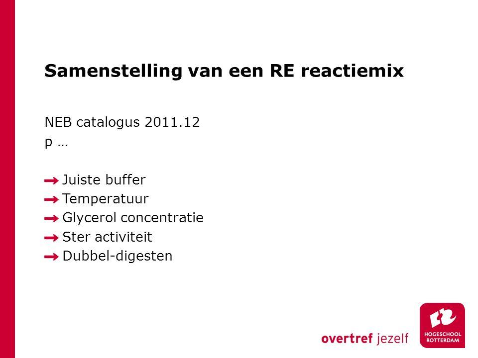 Samenstelling van een RE reactiemix