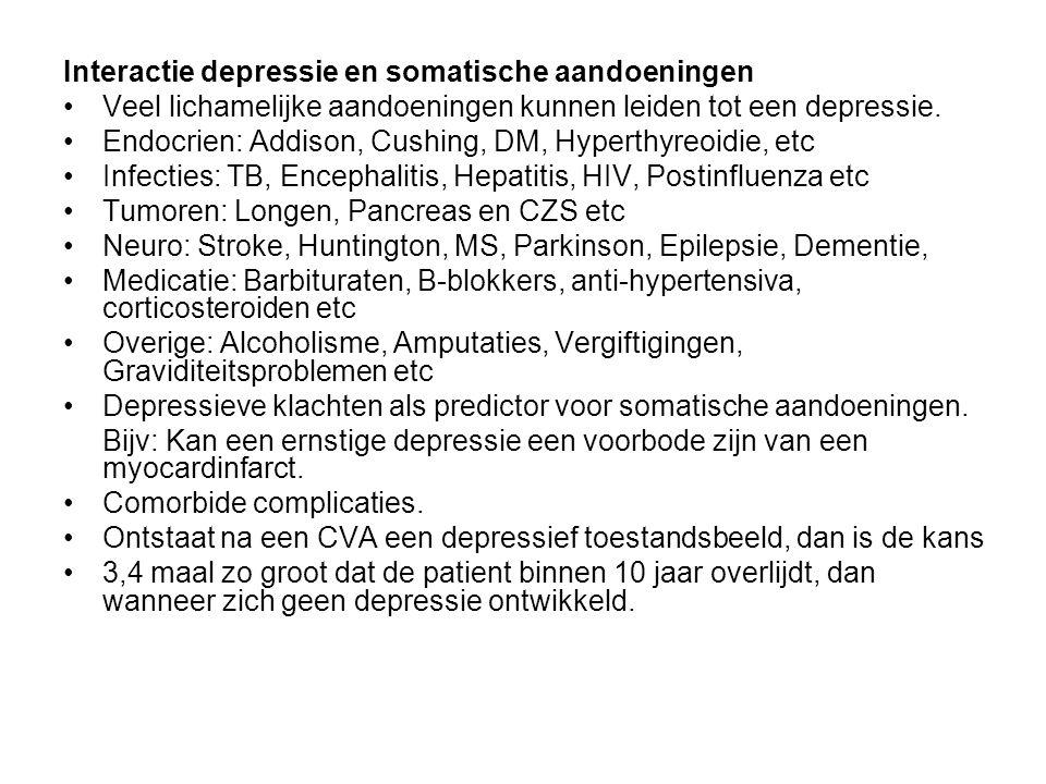Interactie depressie en somatische aandoeningen