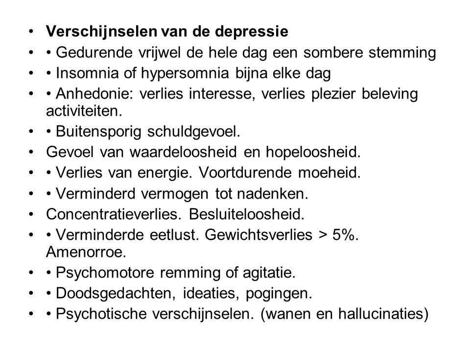 Verschijnselen van de depressie