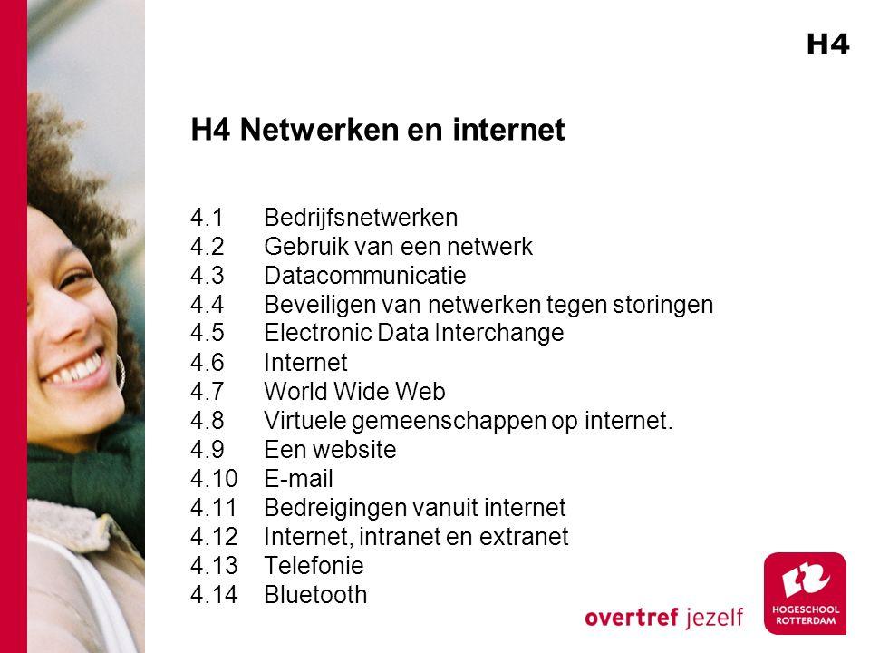 H4 Netwerken en internet