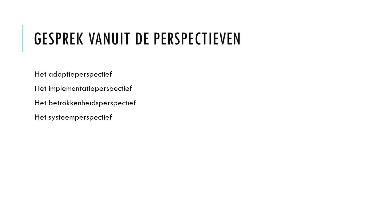 Gesprek vanuit de perspectieven