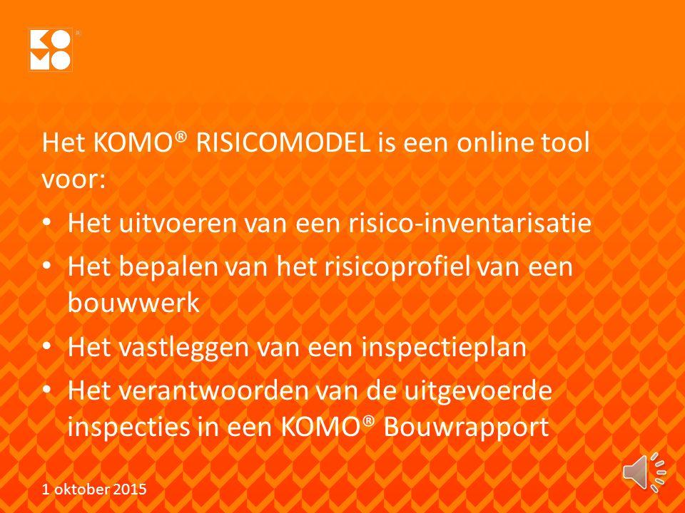 Het KOMO® RISICOMODEL is een online tool voor: