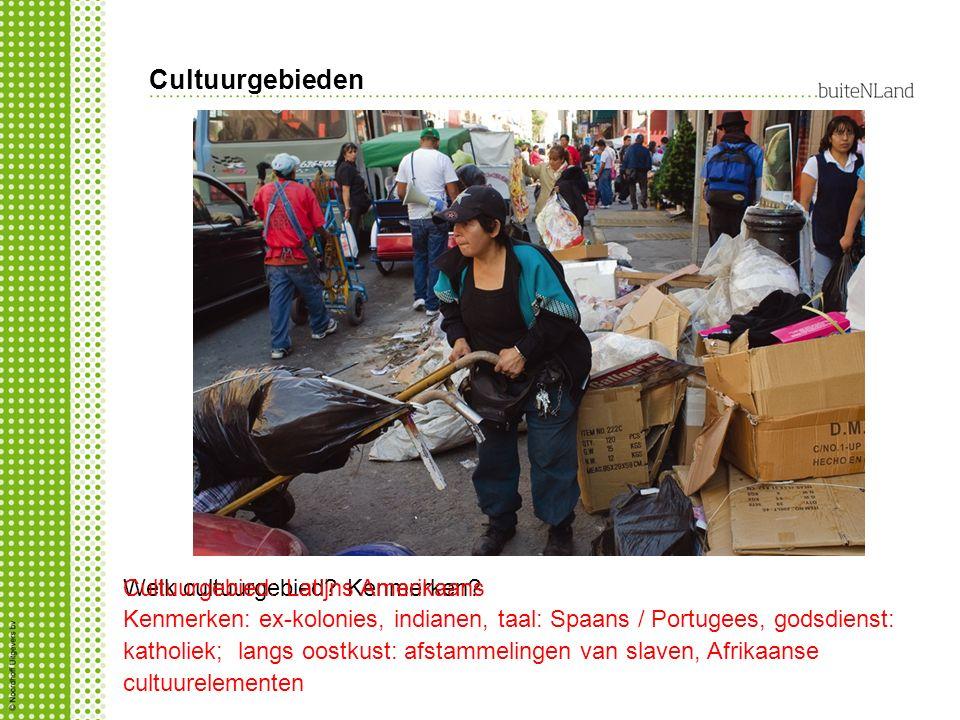 Cultuurgebieden Cultuurgebied: Latijns Amerikaans