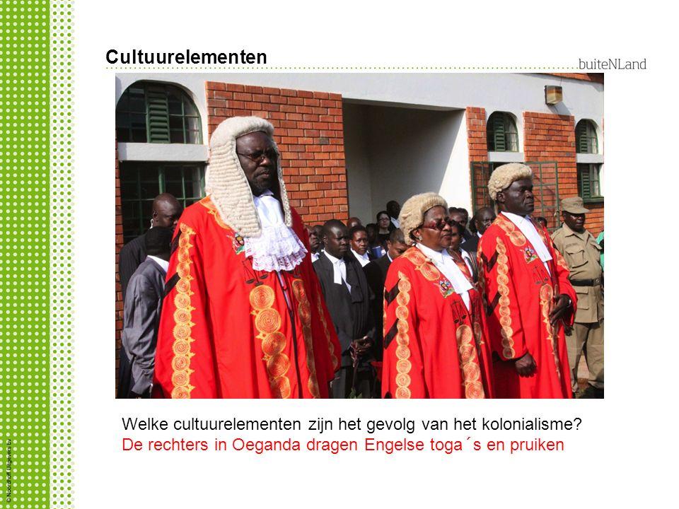Cultuurelementen Welke cultuurelementen zijn het gevolg van het kolonialisme.