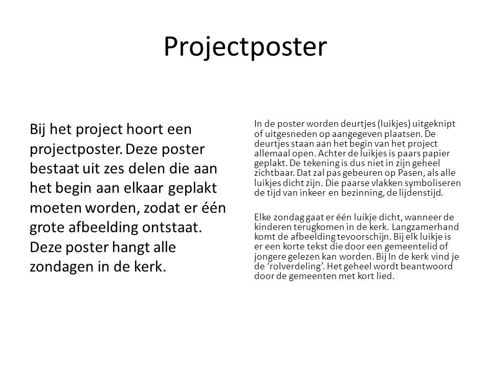 Projectposter