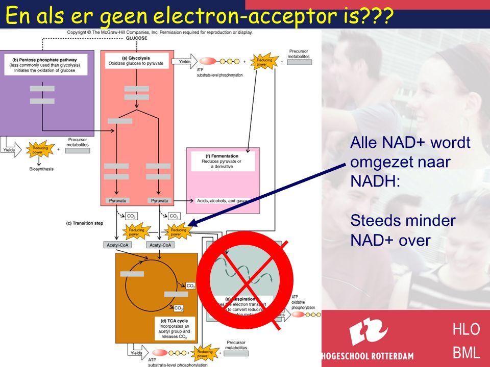 En als er geen electron-acceptor is