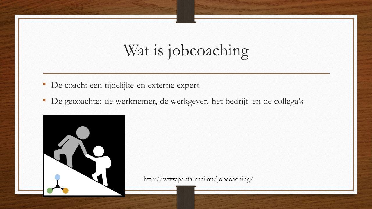 Wat is jobcoaching De coach: een tijdelijke en externe expert