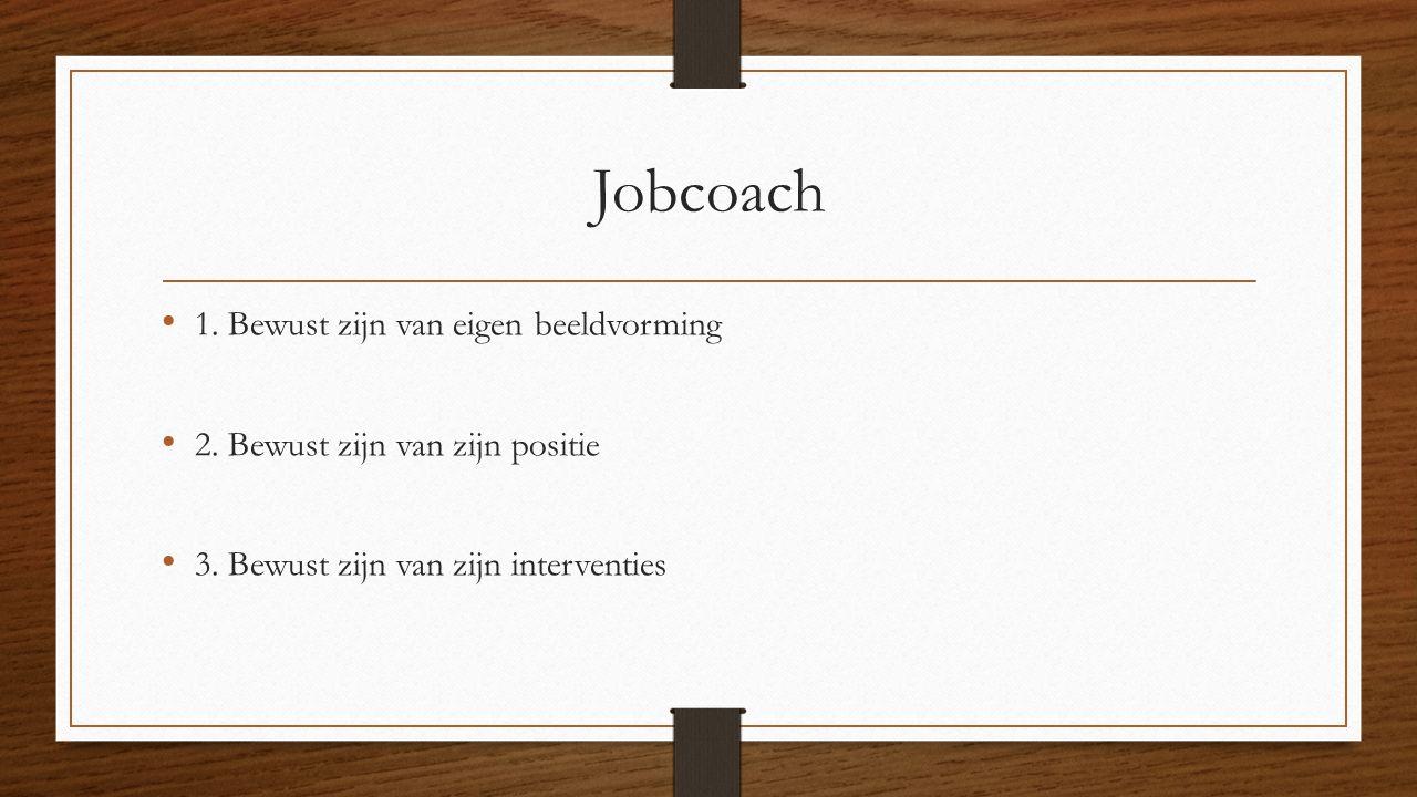 Jobcoach 1. Bewust zijn van eigen beeldvorming