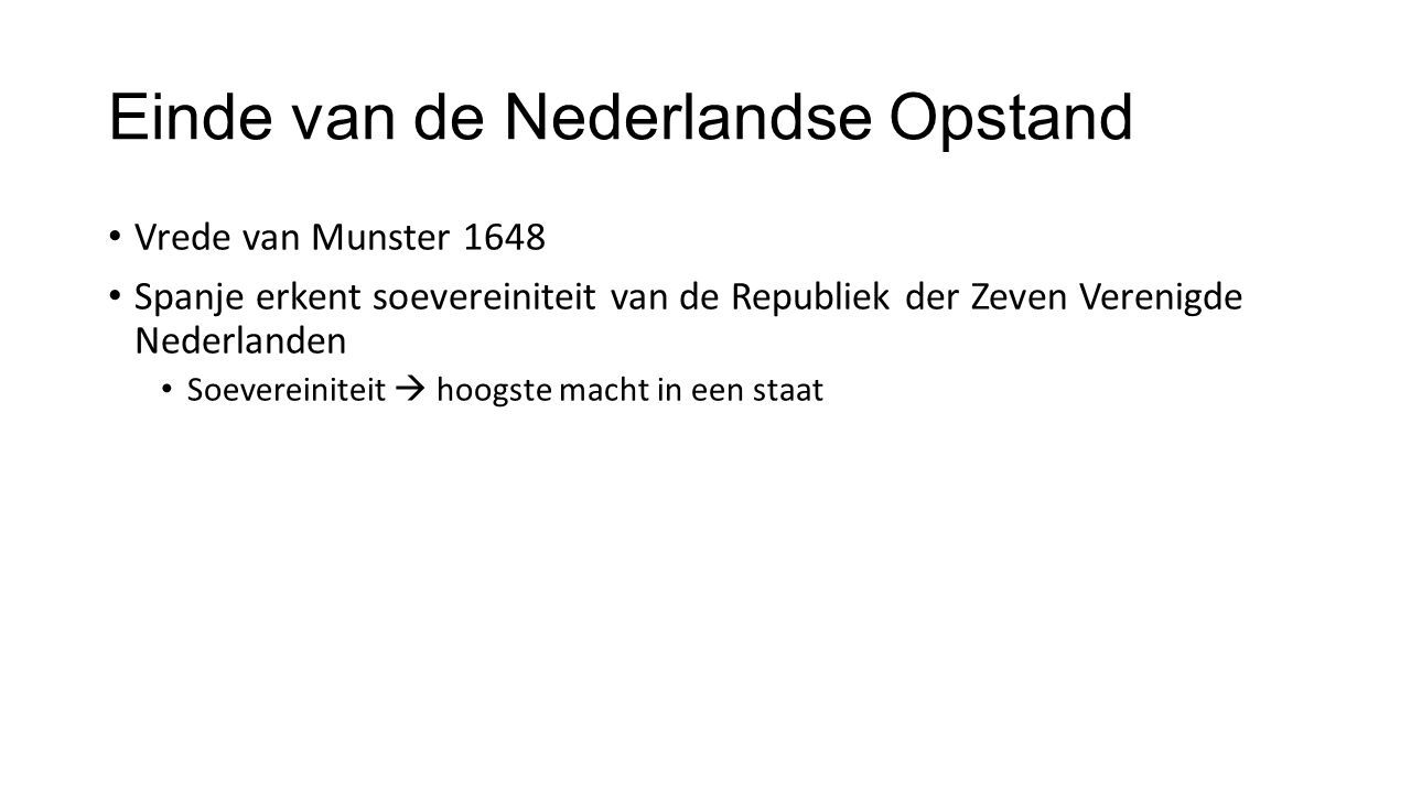 Einde van de Nederlandse Opstand