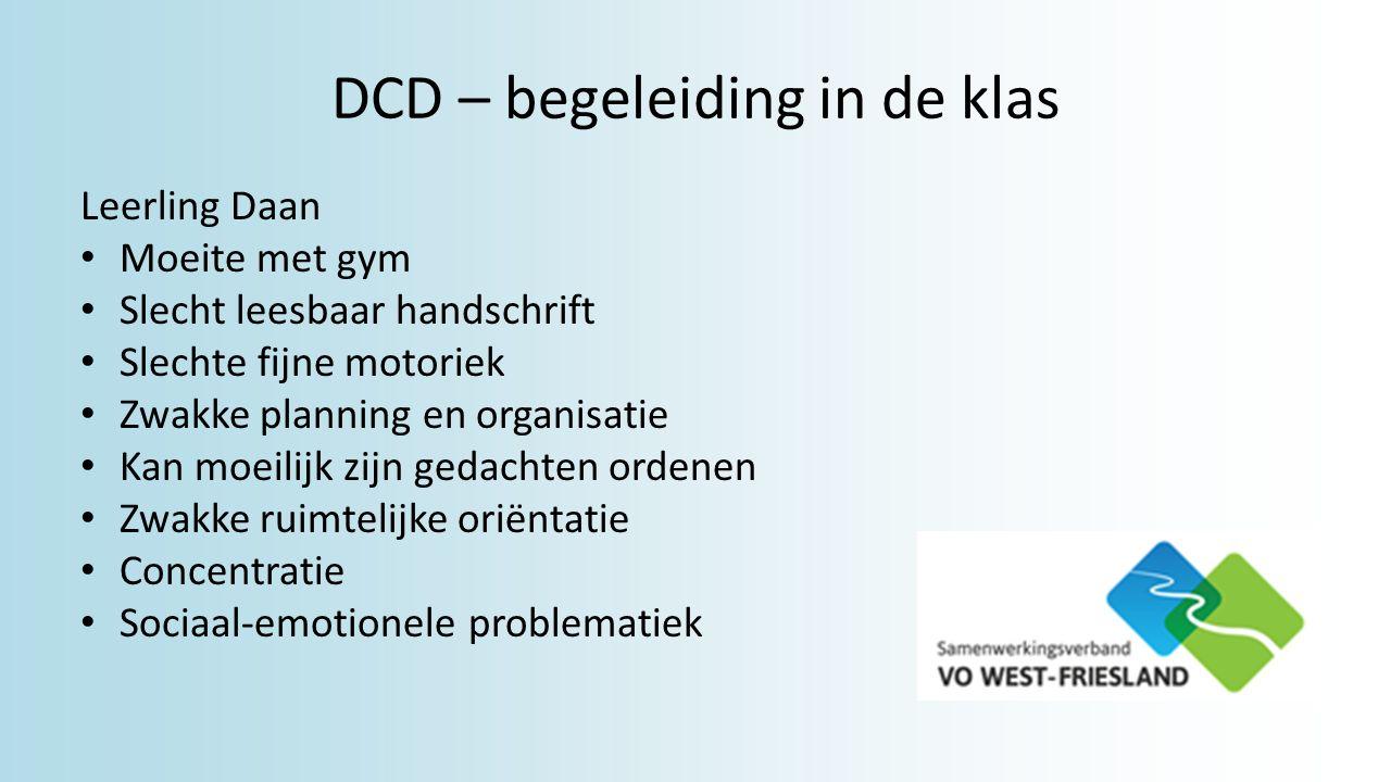 DCD – begeleiding in de klas