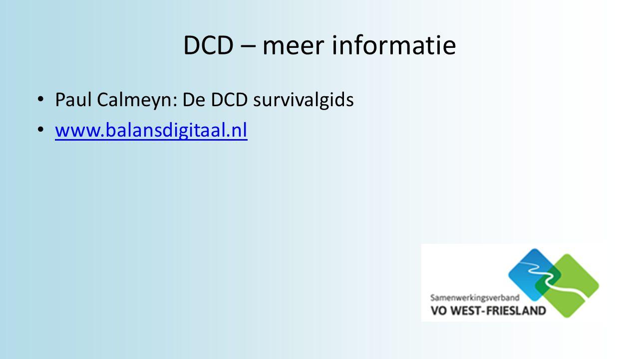 DCD – meer informatie Paul Calmeyn: De DCD survivalgids