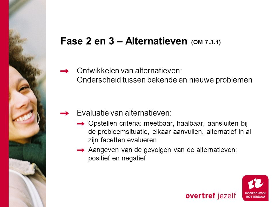 Fase 2 en 3 – Alternatieven (OM 7.3.1)