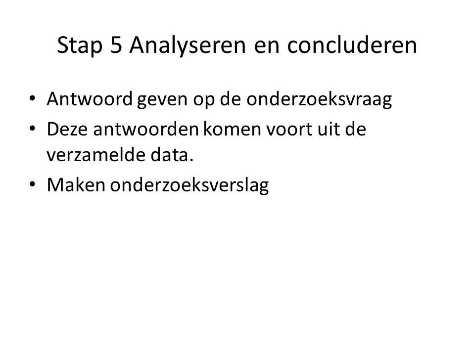 Stap 5 Analyseren en concluderen