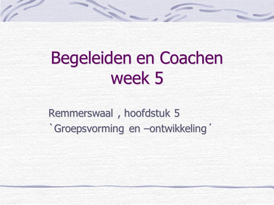 Begeleiden en Coachen week 5