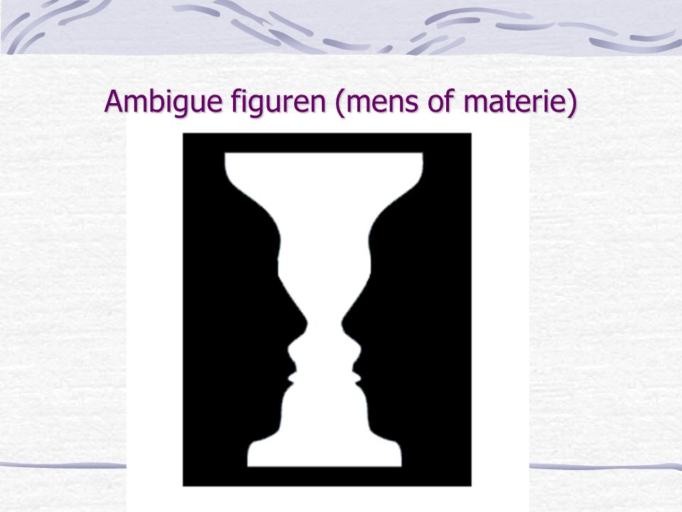 Ambigue figuren (mens of materie)