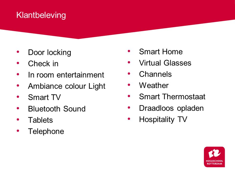 Klantbeleving Door locking Smart Home Check in Virtual Glasses
