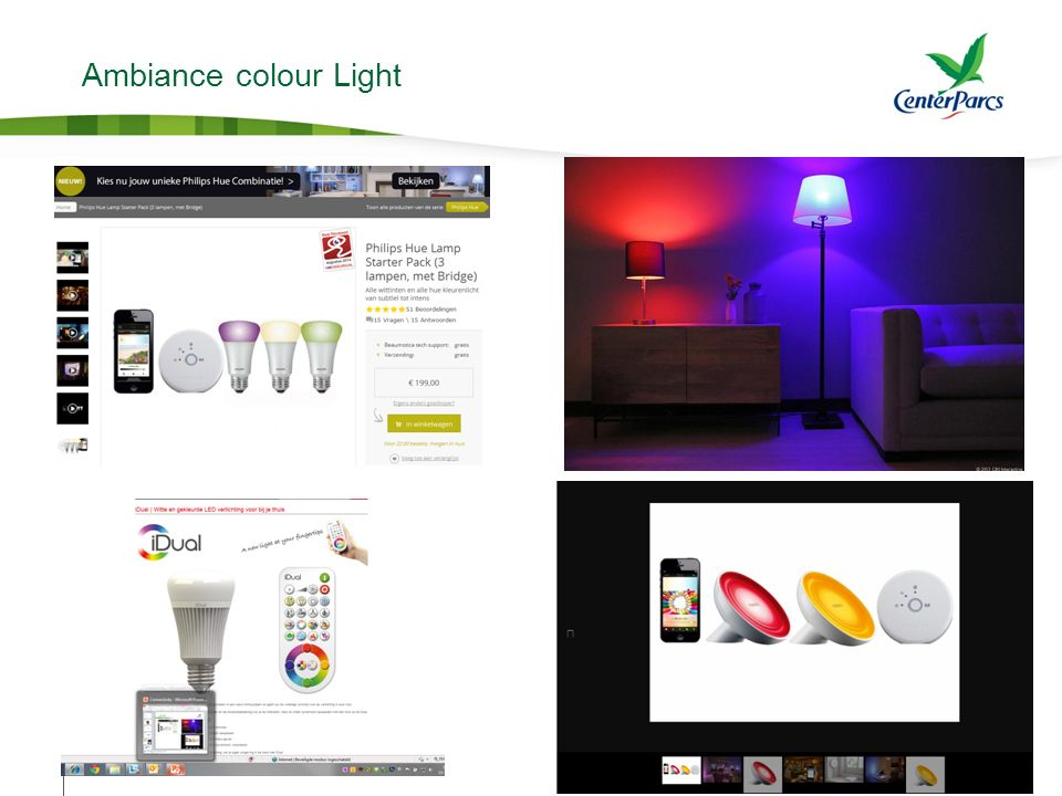 Ambiance colour Light