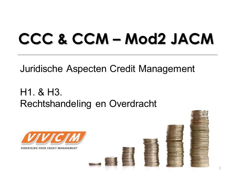CCC & CCM – Mod2 JACM Juridische Aspecten Credit Management H1. & H3.