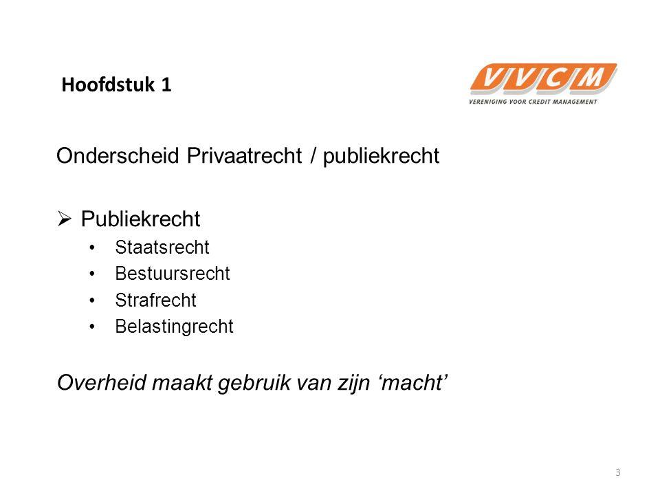 Onderscheid Privaatrecht / publiekrecht Publiekrecht