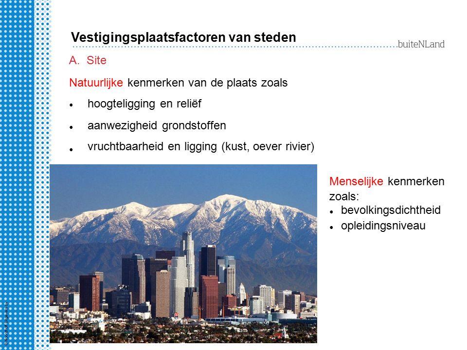 Vestigingsplaatsfactoren van steden
