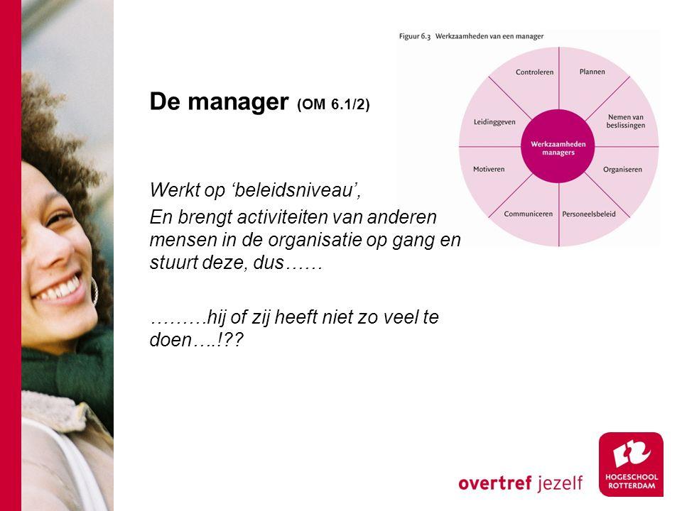 De manager (OM 6.1/2)