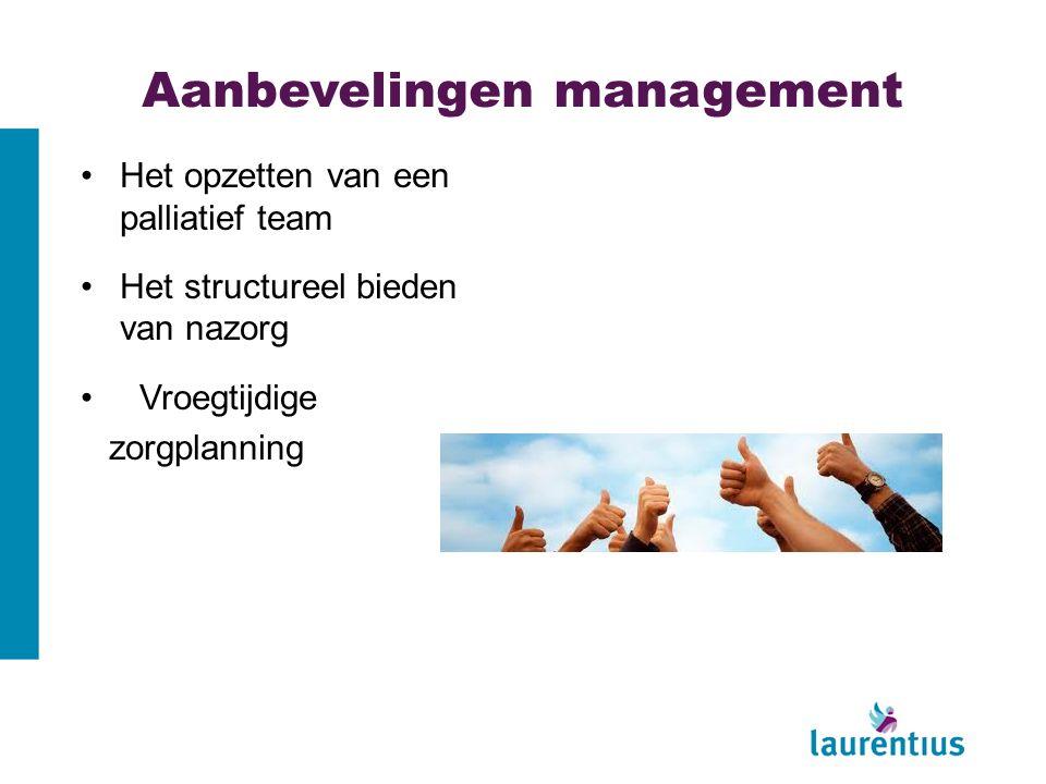 Aanbevelingen management