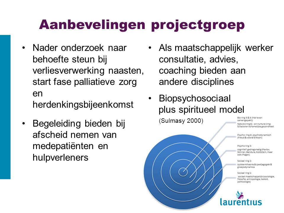 Aanbevelingen projectgroep