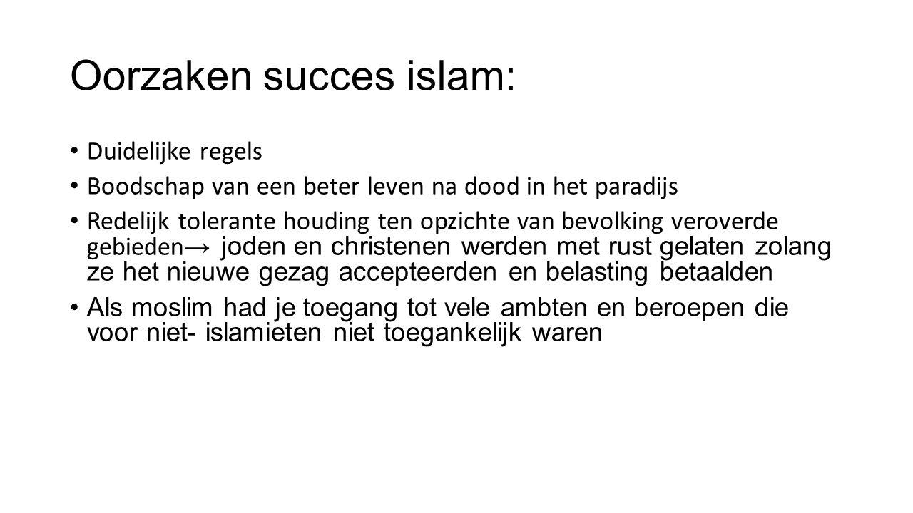 Oorzaken succes islam: