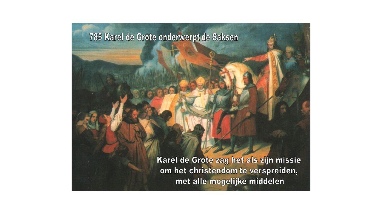 785 Karel de Grote onderwerpt de Saksen
